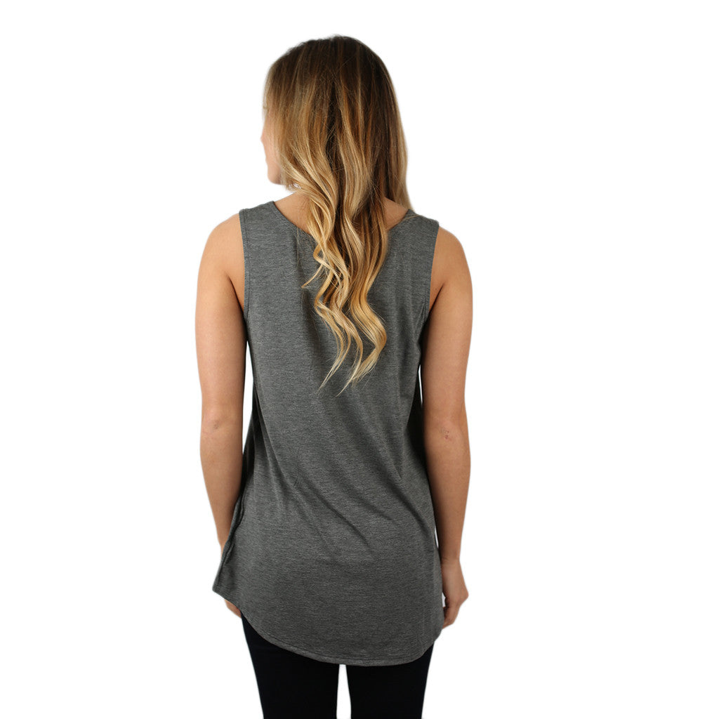 At First Crush Scoop Tank in Charcoal