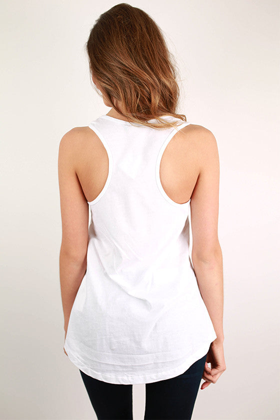 Texas Time Pocket Tank White