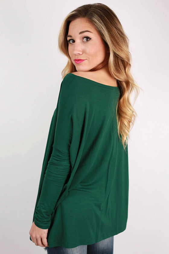 PIKO Long Sleeve Tee in Forest Green