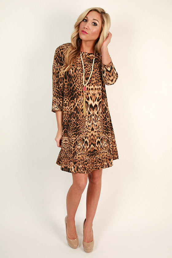 Love You More Leopard Dress