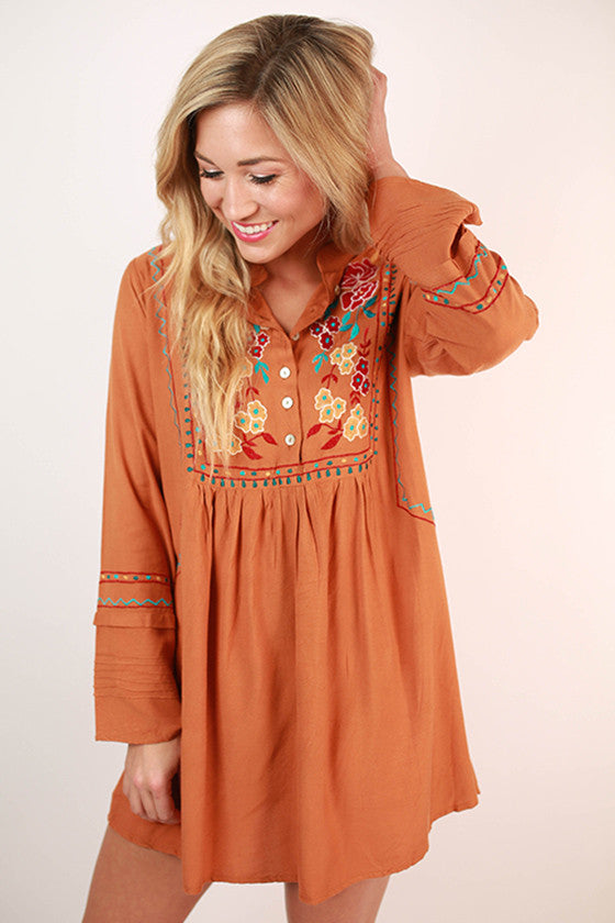 I Wanna Hold Your Hand Tunic in Camel