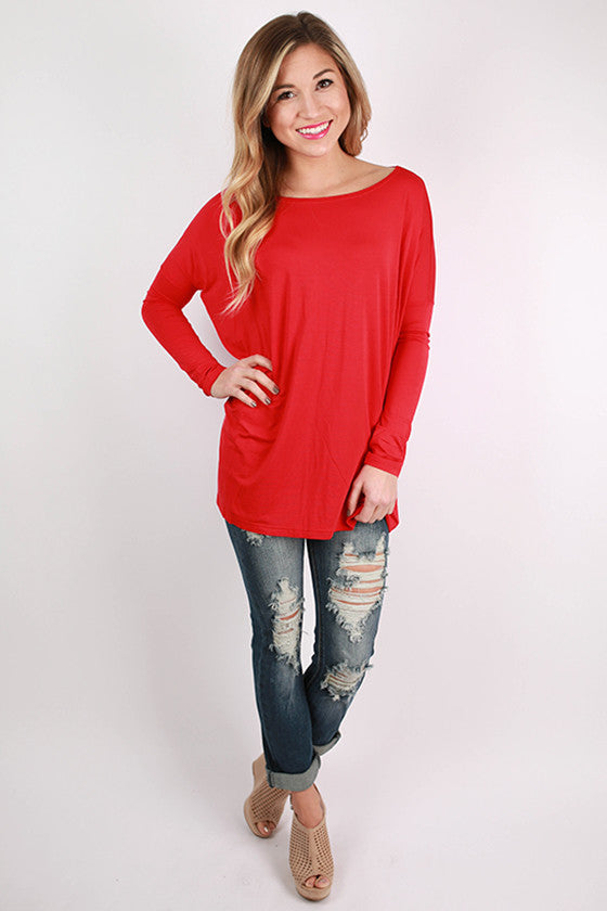 PIKO Long Sleeve Tee in American Red