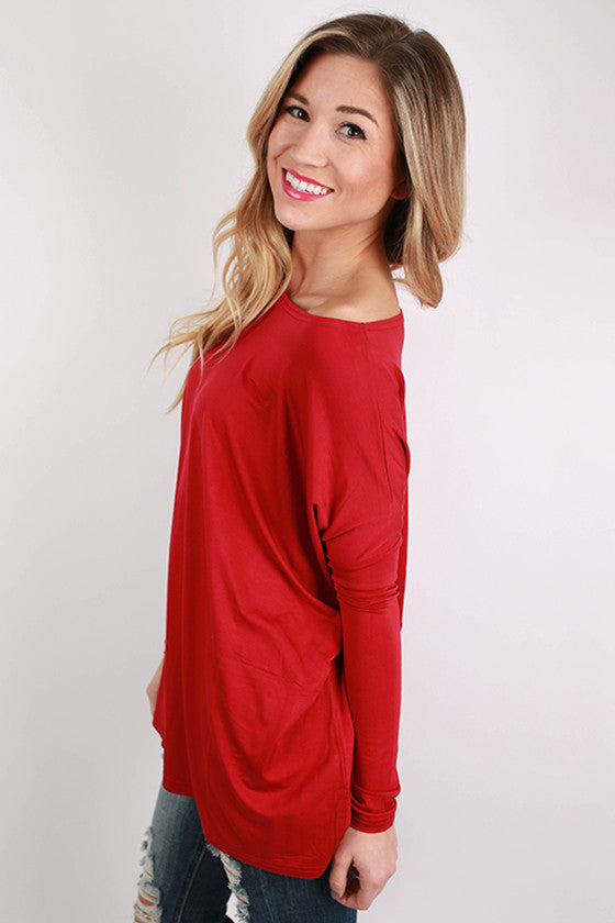 PIKO Long Sleeve Tee in Garnet
