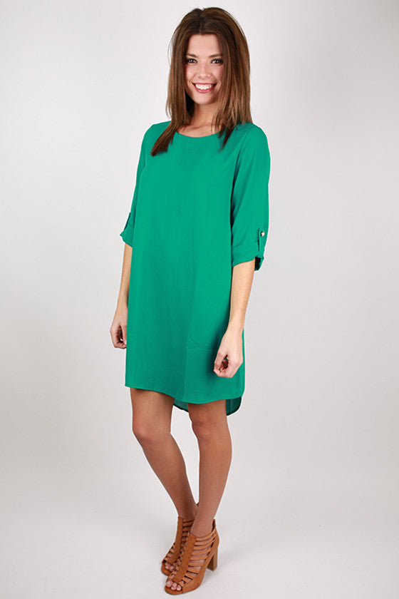 Lattes & Love Dress in Jade