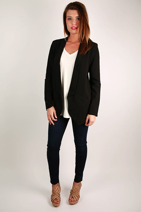 A Southern Girl Blazer in Black