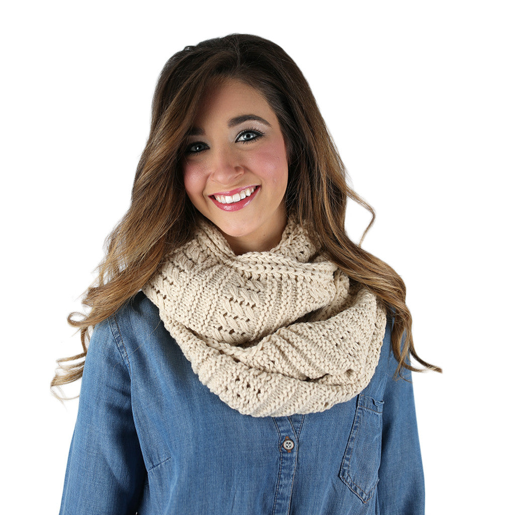 Sipping By The Fire Infinity Scarf Ivory