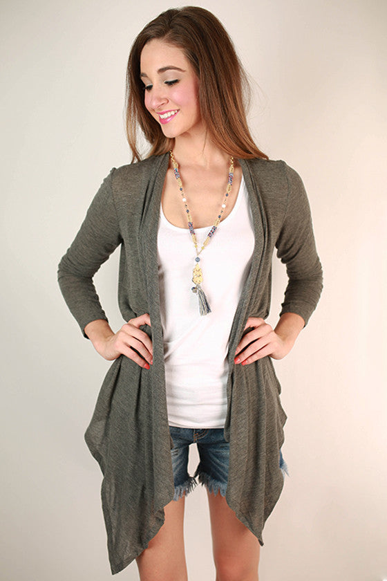 Vail Retreat Cardi Charcoal