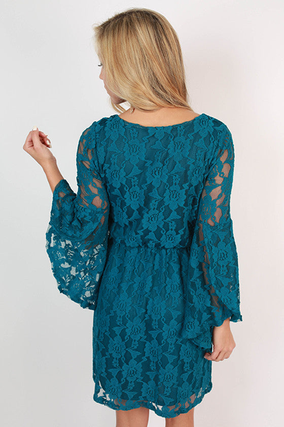 Hello Sweetheart Dress Dark Turquoise