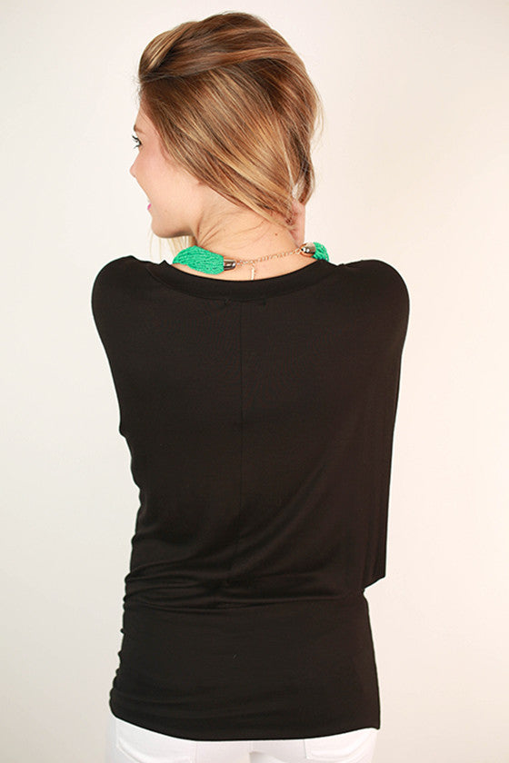 Perfect Fit V-Neck Dolman Black