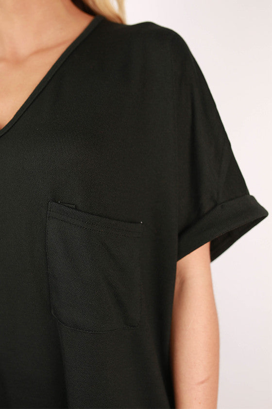 The Weekender Top in Black