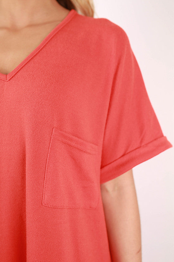 The Weekender Top in Orange