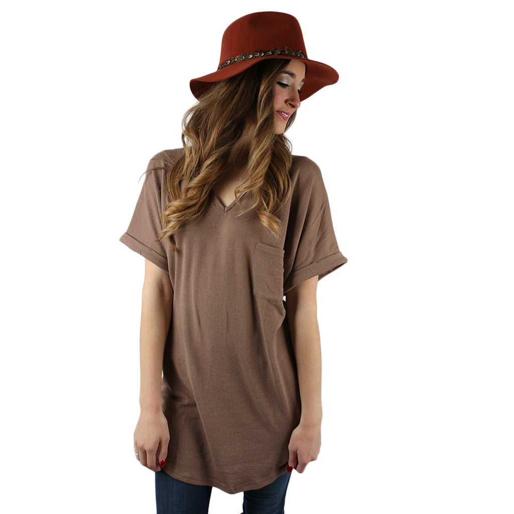 The Weekender Top in Mocha