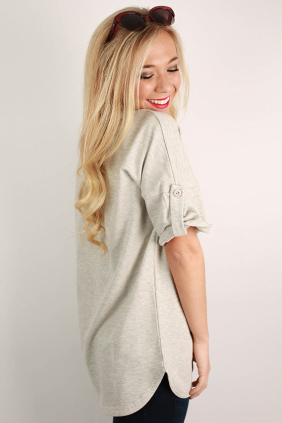 One Of A Kind Tunic Grey