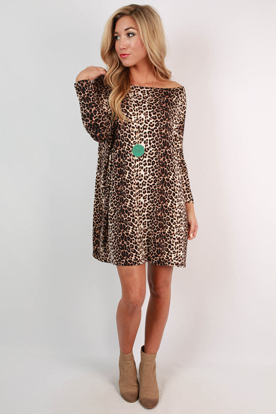Cheetah Me Pretty Shift Dress
