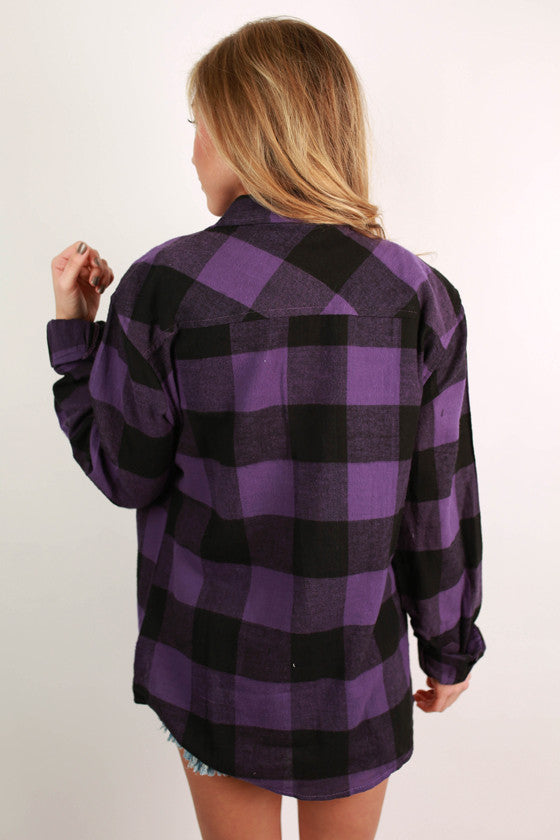 Cozy For Days Unisex Flannel in Purple
