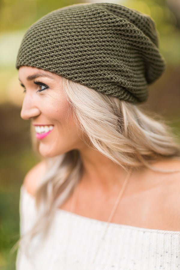 Aspen Afternoon Beanie in Olive