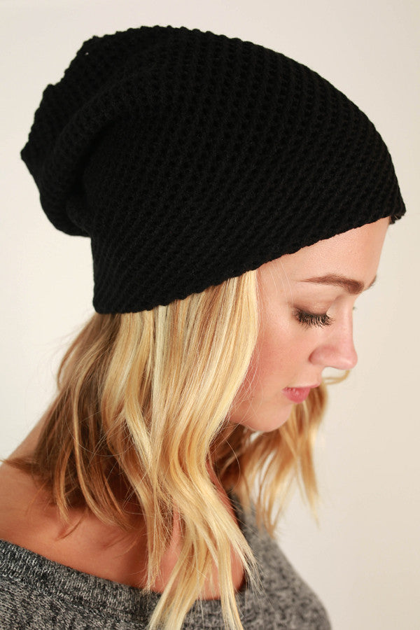 Aspen Afternoon Beanie in Black
