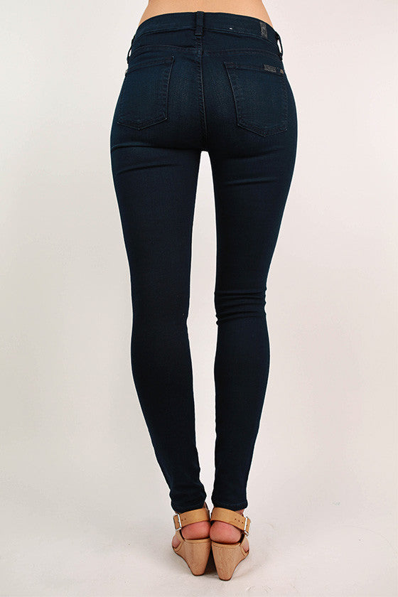 Slim Illusion Luxe: Mid Rise Skinny Contour in Rich Blue