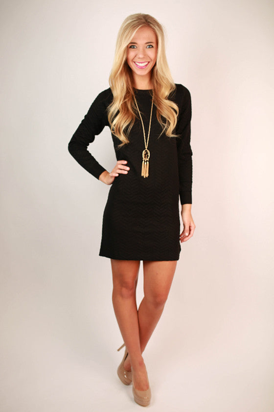 Weekend In Chicago Dress in Black