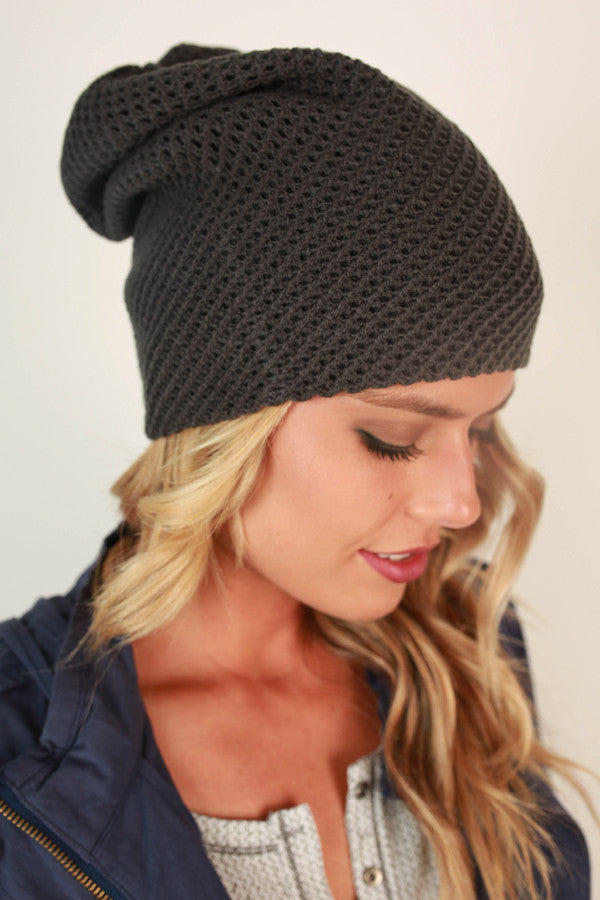 Aspen Afternoon Beanie in Charcoal