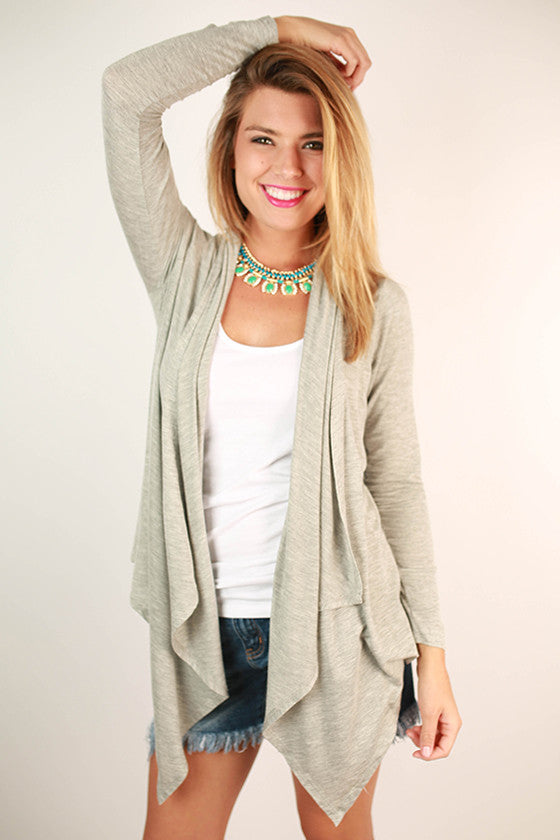 Vail Retreat Cardi Heather Grey