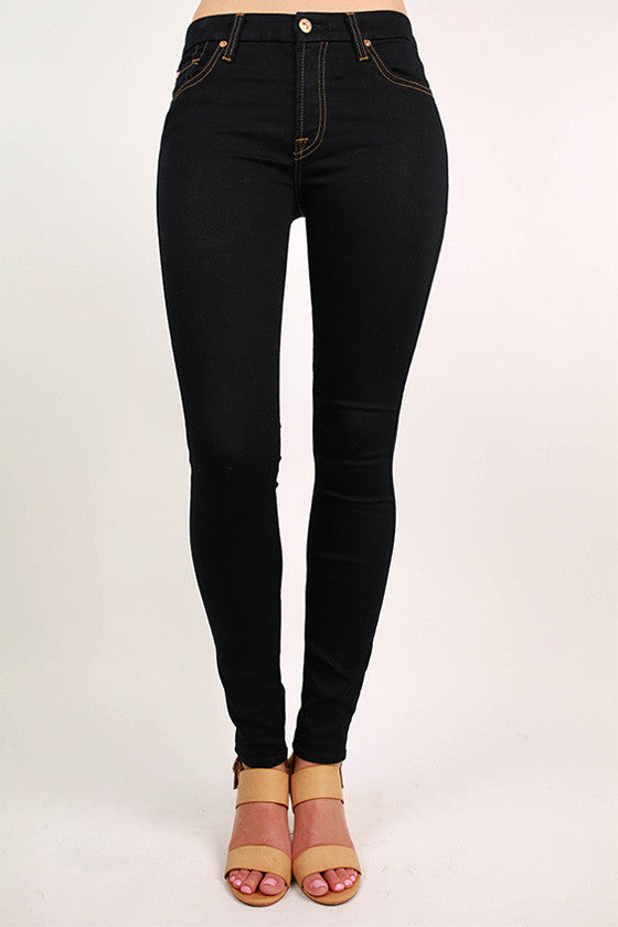 The Second Skin Slim Illusion Skinny in Midnight Rinse