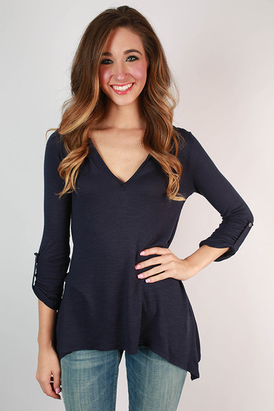 It's Navy, Baby Tunic Top