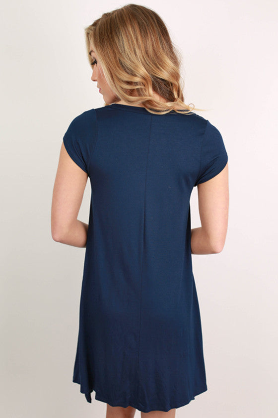 I'm Flawless Tunic in Navy