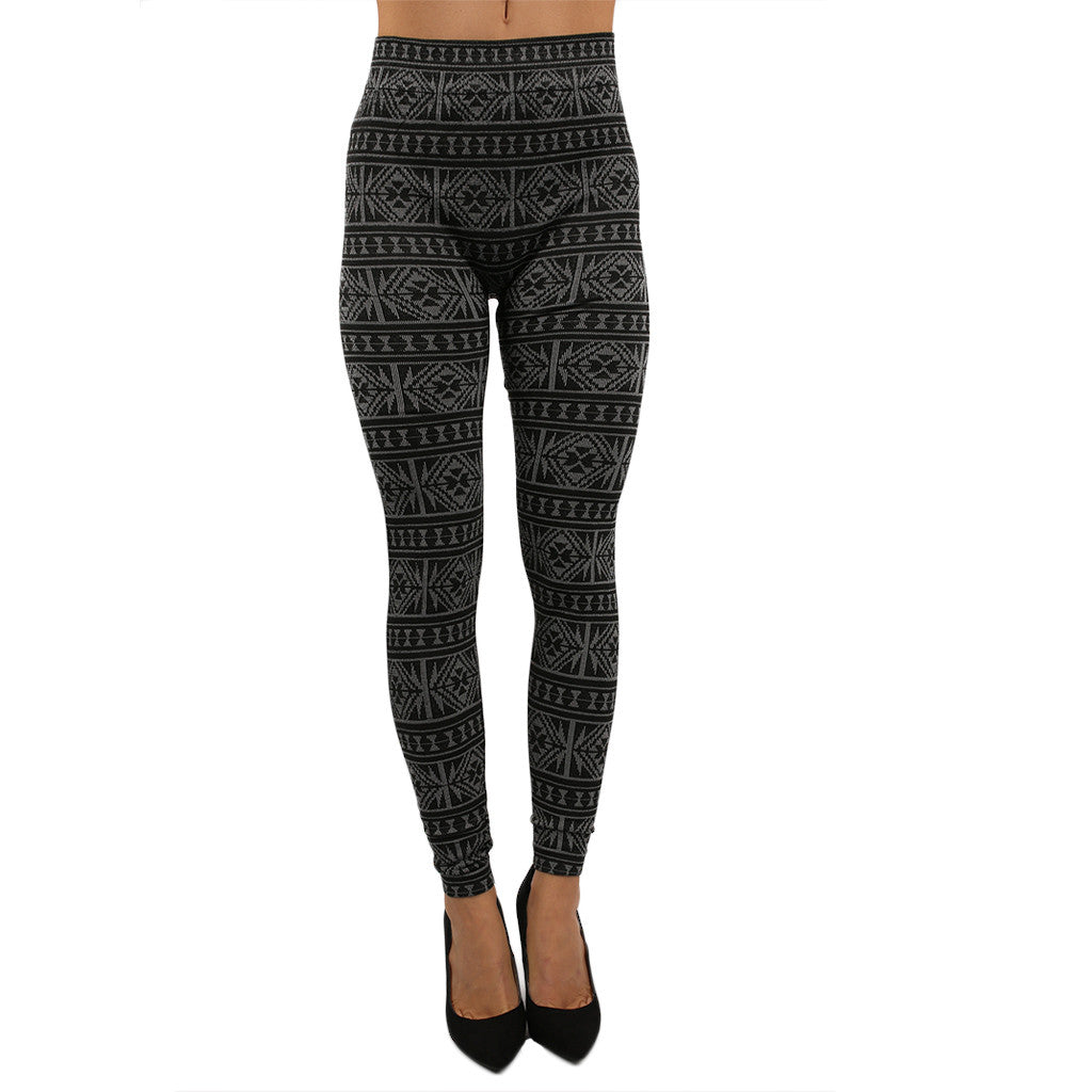 Terry Lined Cozy Leggings Grey