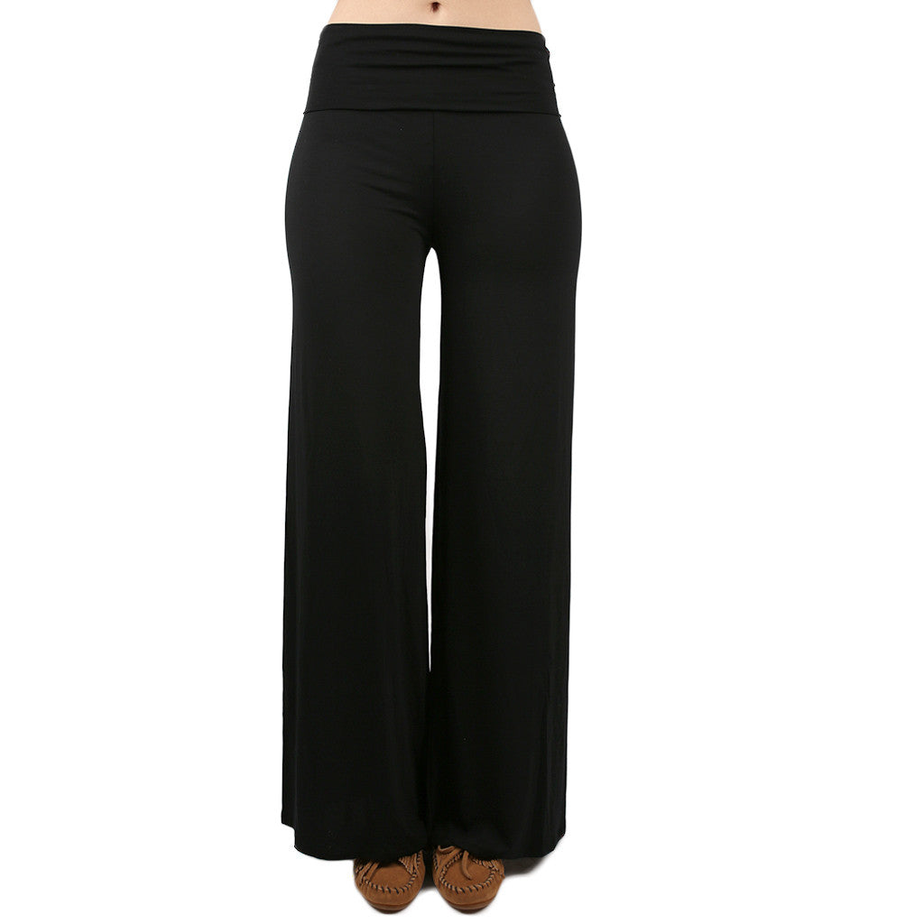 High Waist Flare Pants in Black