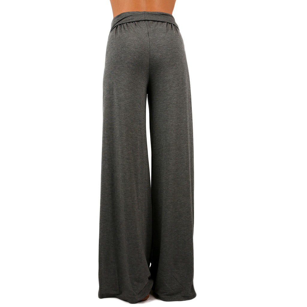 High Waist Flare Pants in Grey