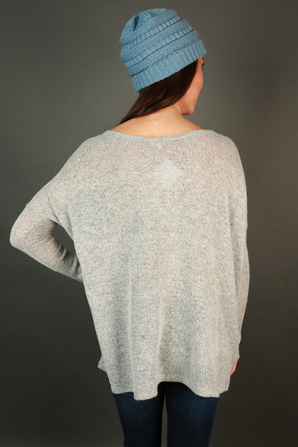 PIKO Sweater in Light Grey