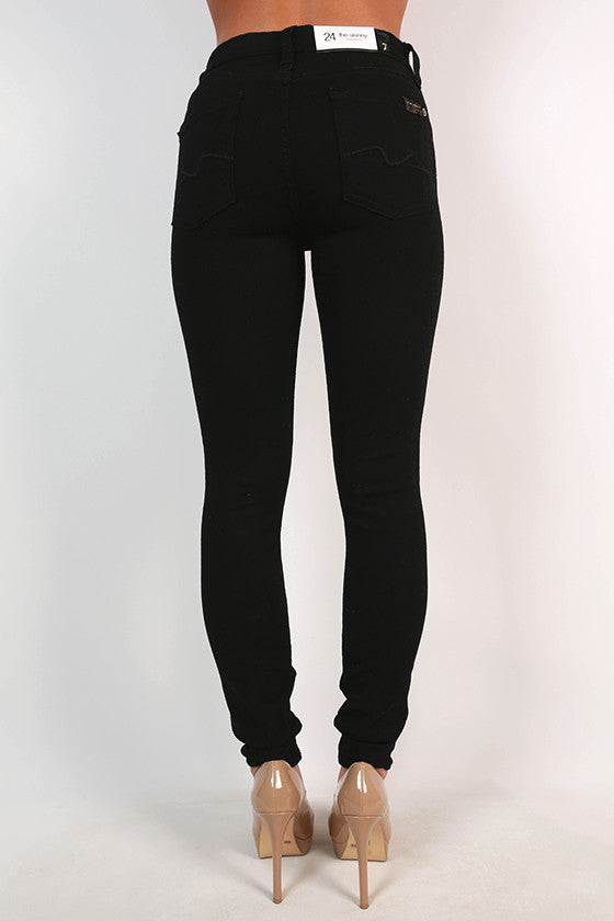 The High Waist Skinny in Black Double Knit