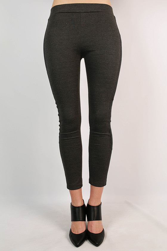 The Posh Life Legging in Charcoal