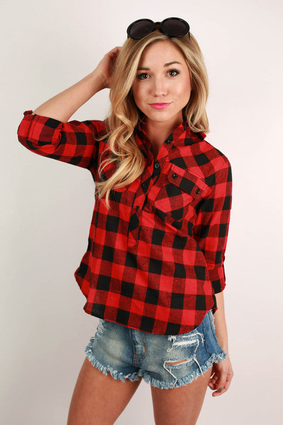 Prep It Up Plaid in Red