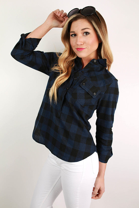 Prep It Up Plaid in Navy