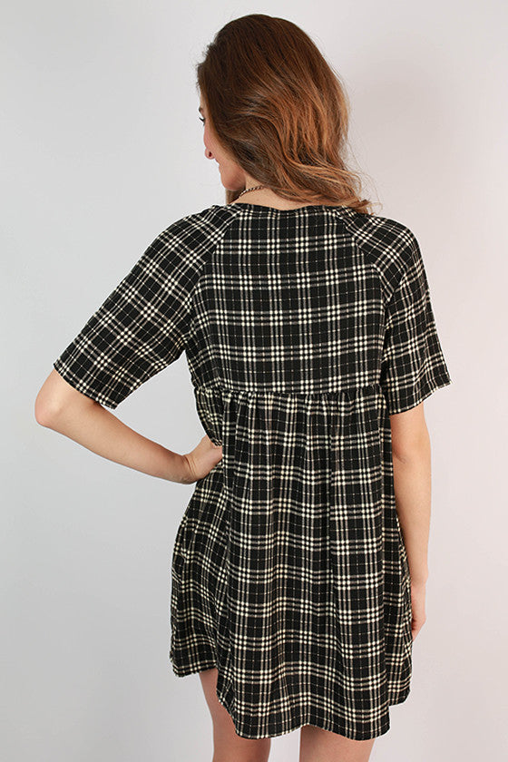 Check Mate Babydoll Dress
