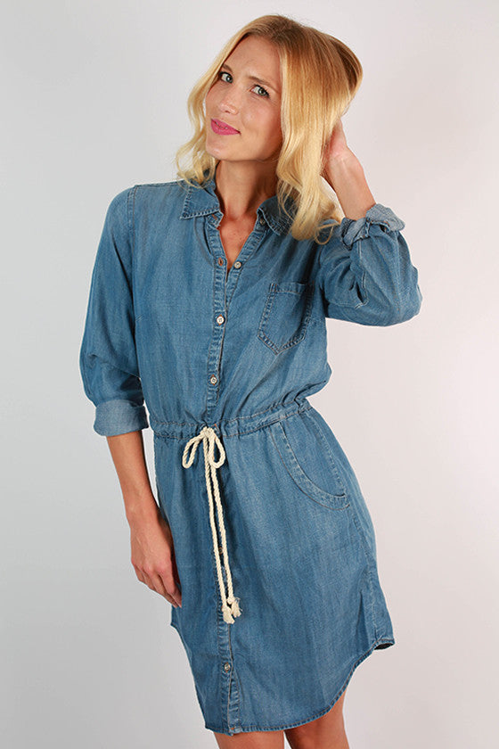 Style is Eternal Denim Dress