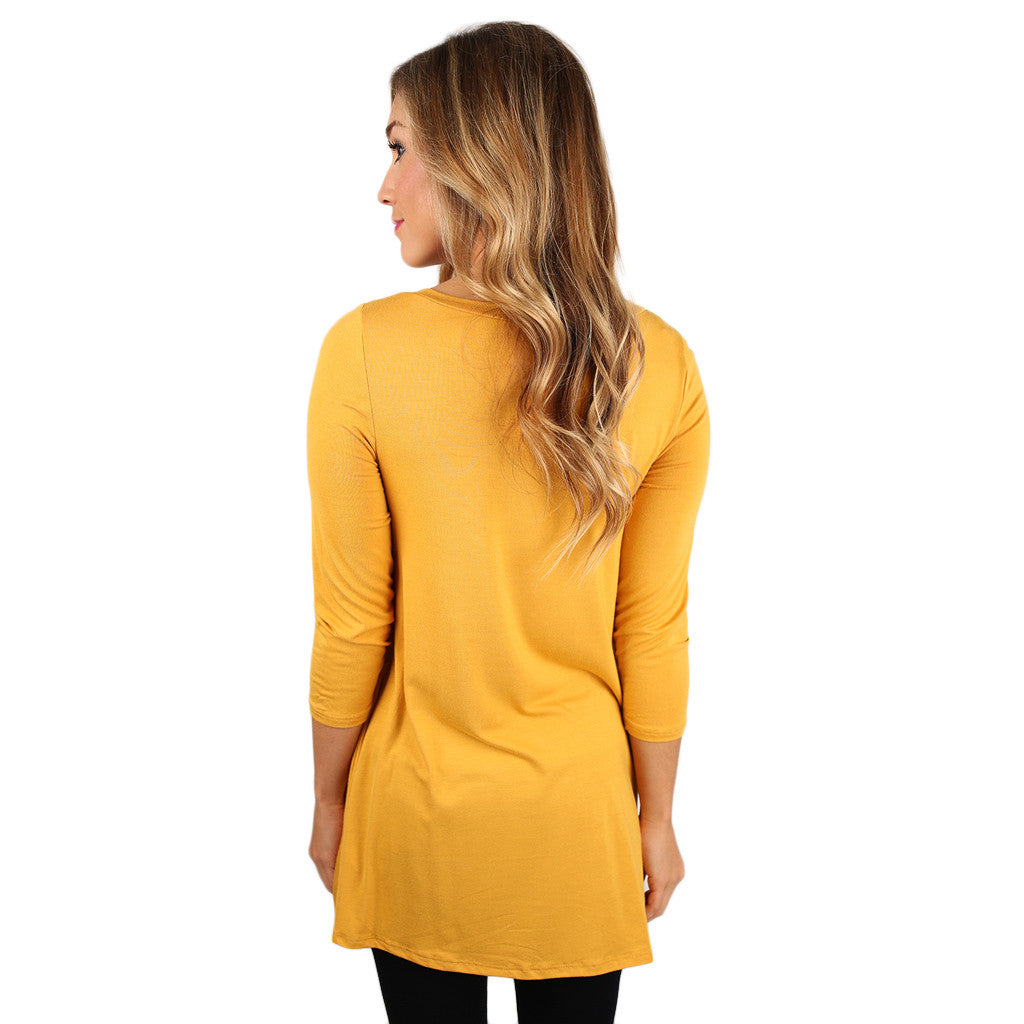 The Divine Girl Tee in Mustard