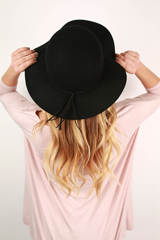 After The Runway Hat in Black