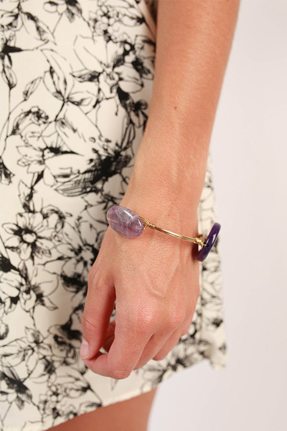 So Posh Purple Bangle