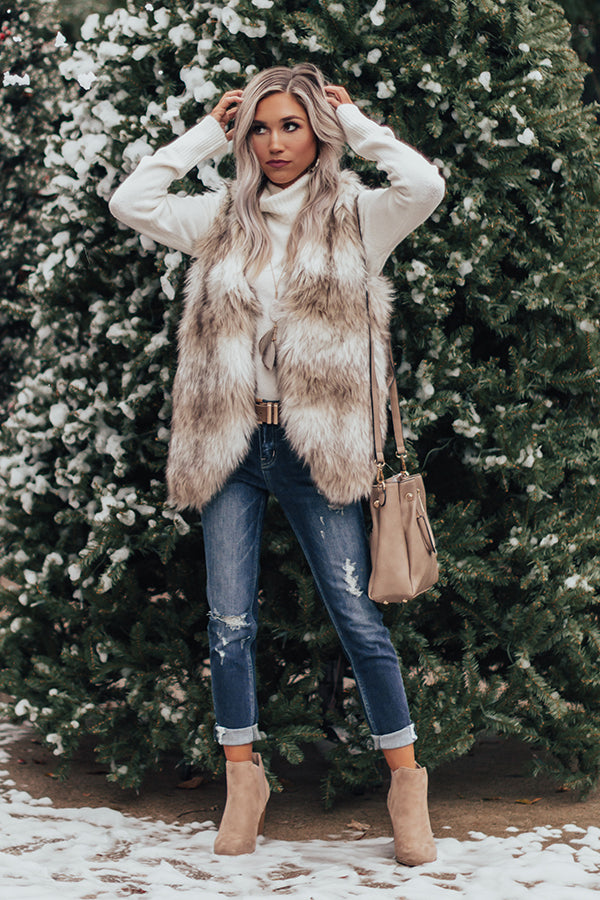 Cozy Like Sunday Morning Faux Fur Vest