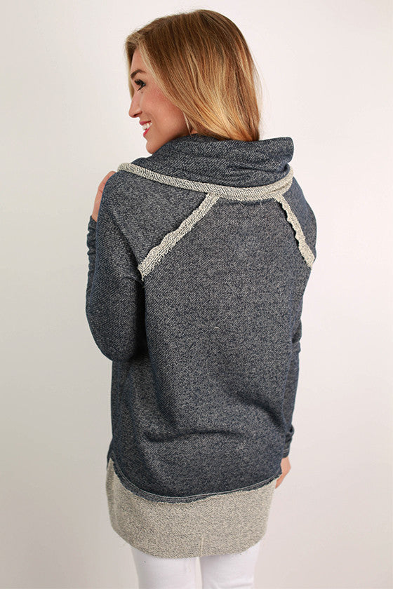 Cozy on the Slopes Sweater in Navy