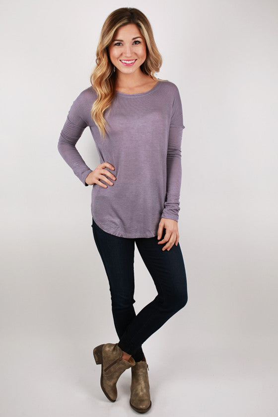 Hampton's Weekend Top in Lavender