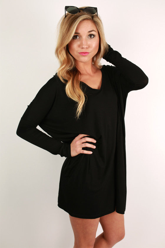 PIKO V-Neck Tunic in Black