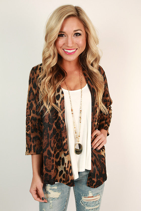Cheetah Kisses Cardigan