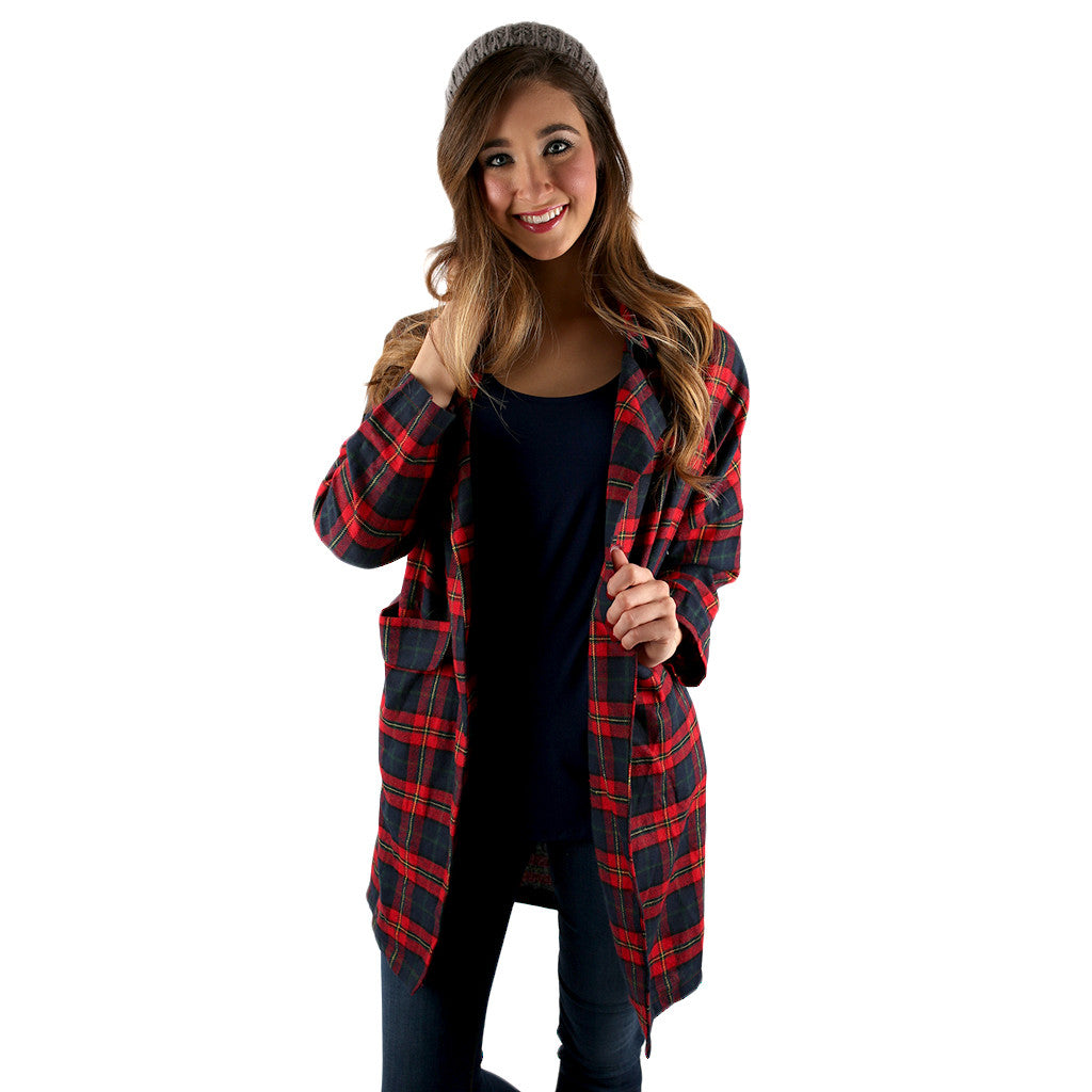Flannel Cuddles Cardigan