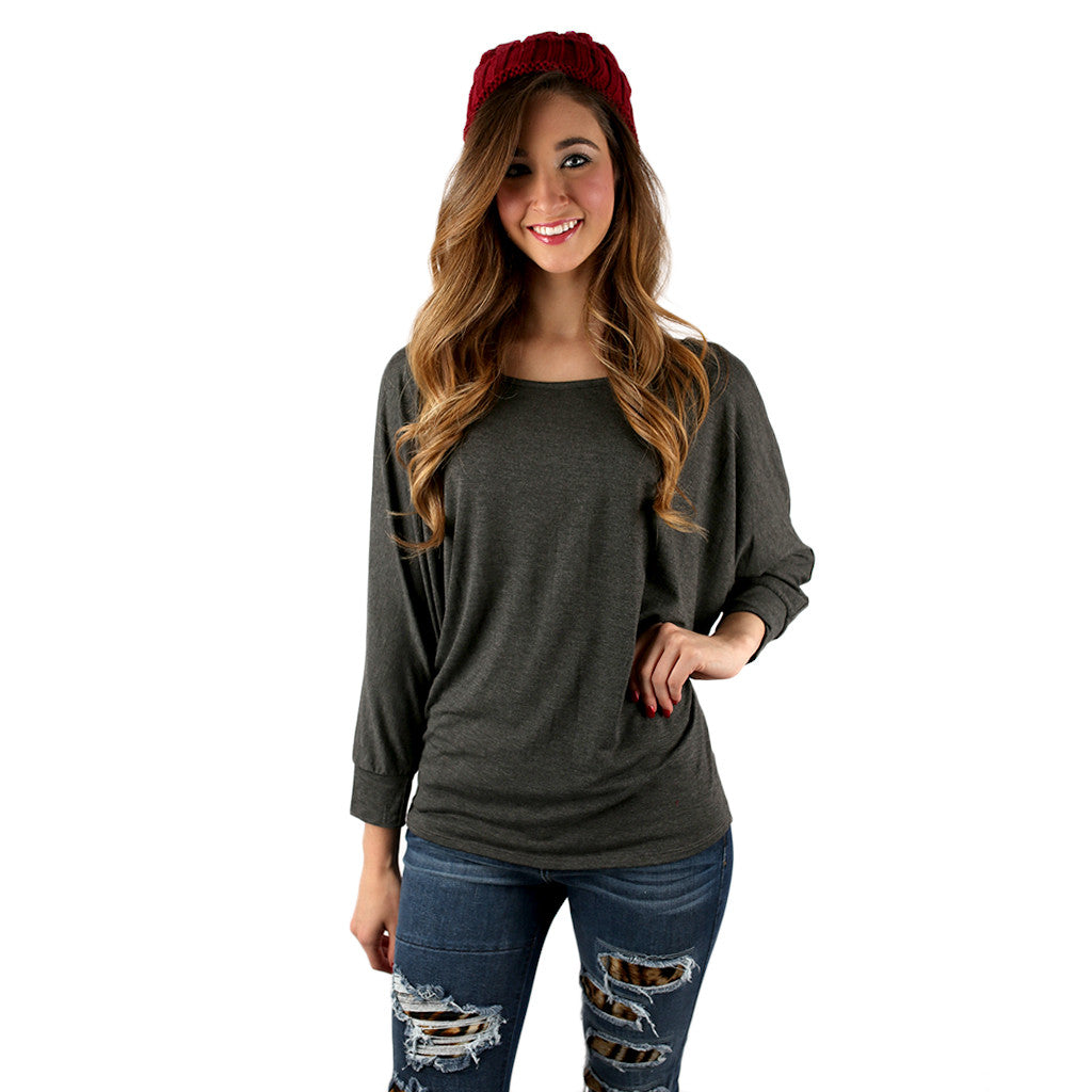 Dress me Up or Down Tee Charcoal