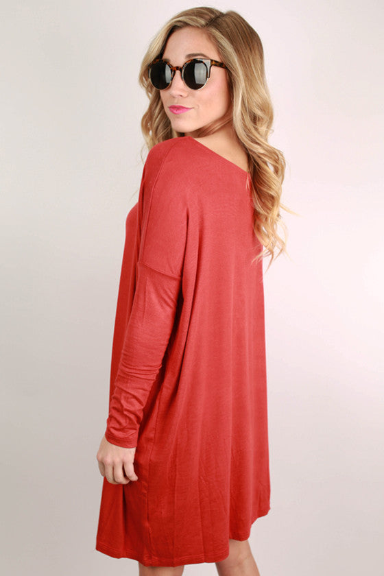 Perfect Little Tunic in Tomato