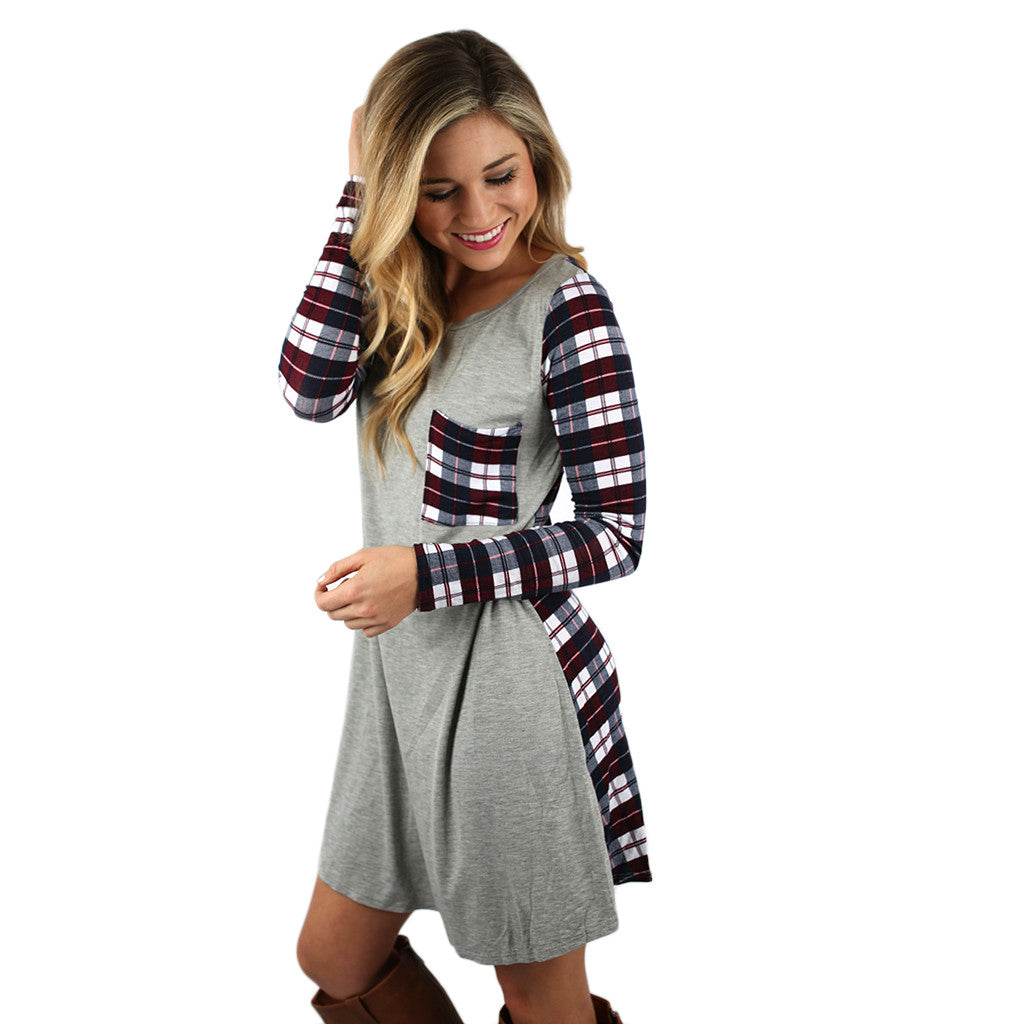 Universally Flattering Dress in Heather Grey